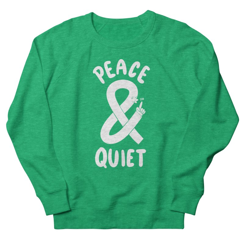 Peace & Quiet Men's French Terry Sweatshirt by Morkki