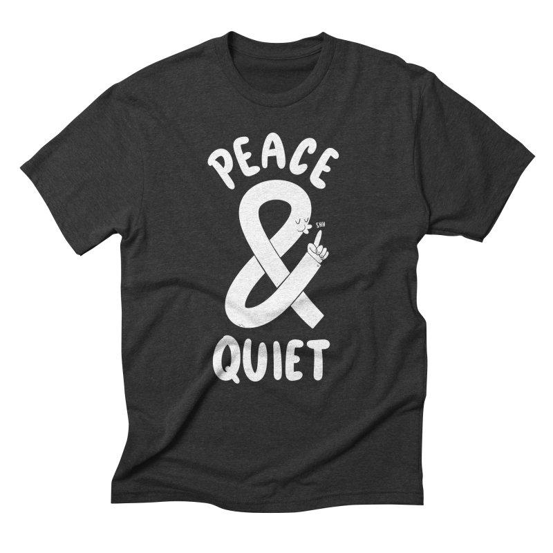 Peace & Quiet Men's Triblend T-Shirt by Morkki