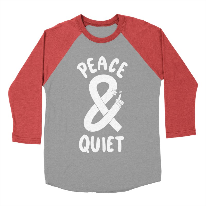 Peace & Quiet Women's Baseball Triblend Longsleeve T-Shirt by Morkki