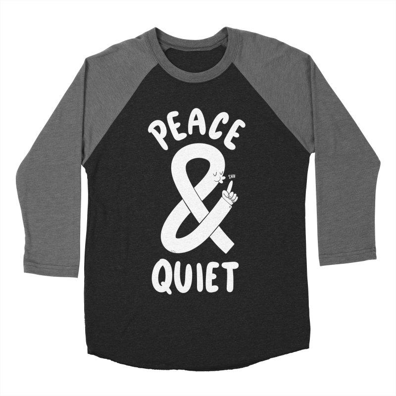 Peace & Quiet Men's Baseball Triblend Longsleeve T-Shirt by Morkki