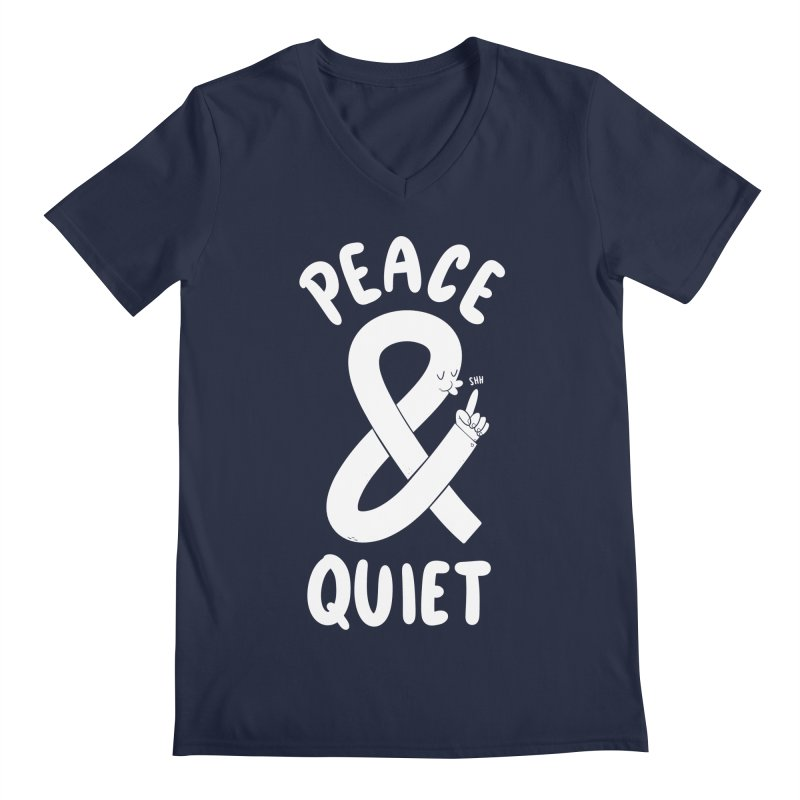 Peace & Quiet Men's V-Neck by Morkki