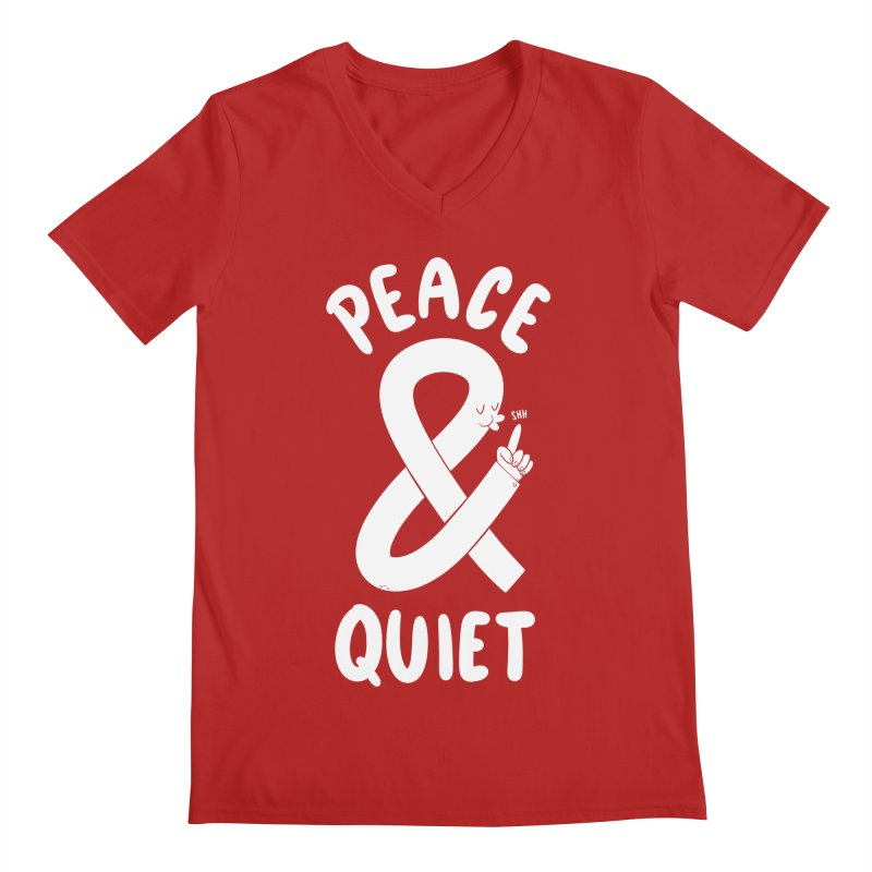 Peace & Quiet Men's V-Neck by Morkki