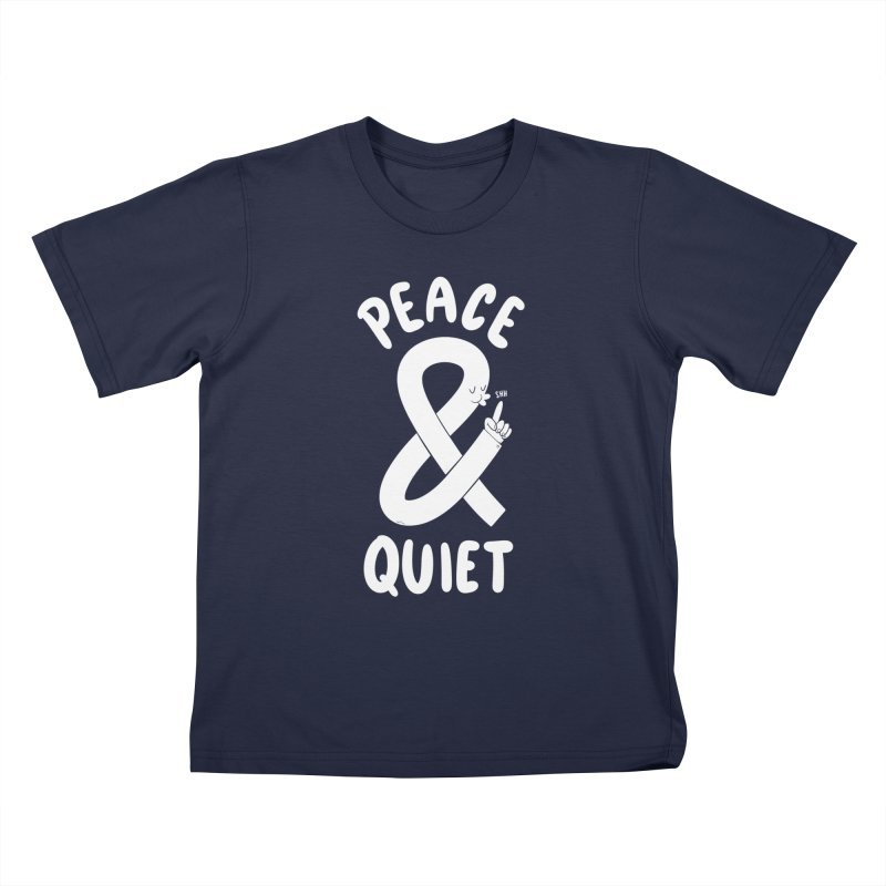 Peace & Quiet Kids T-Shirt by Morkki