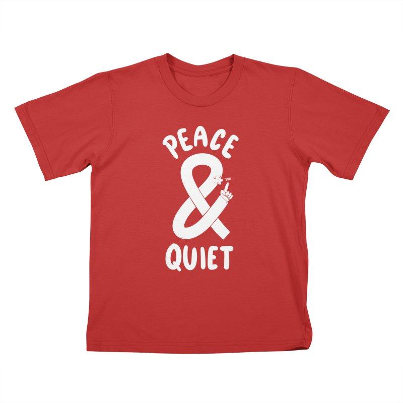 Peace & Quiet Kids T-Shirt by Morkki