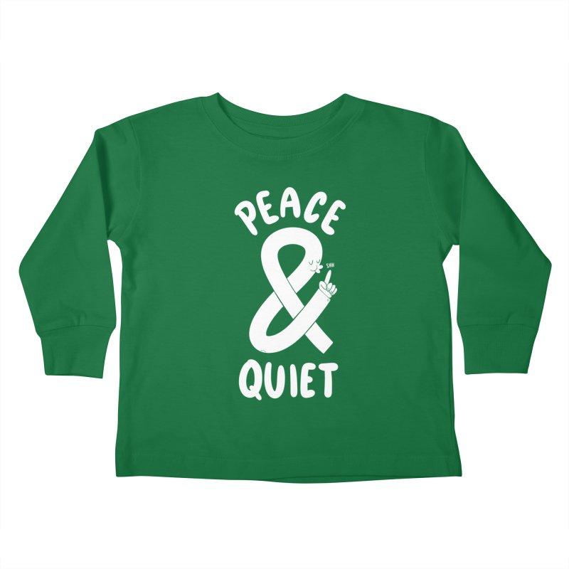 Peace & Quiet Kids Toddler Longsleeve T-Shirt by Morkki