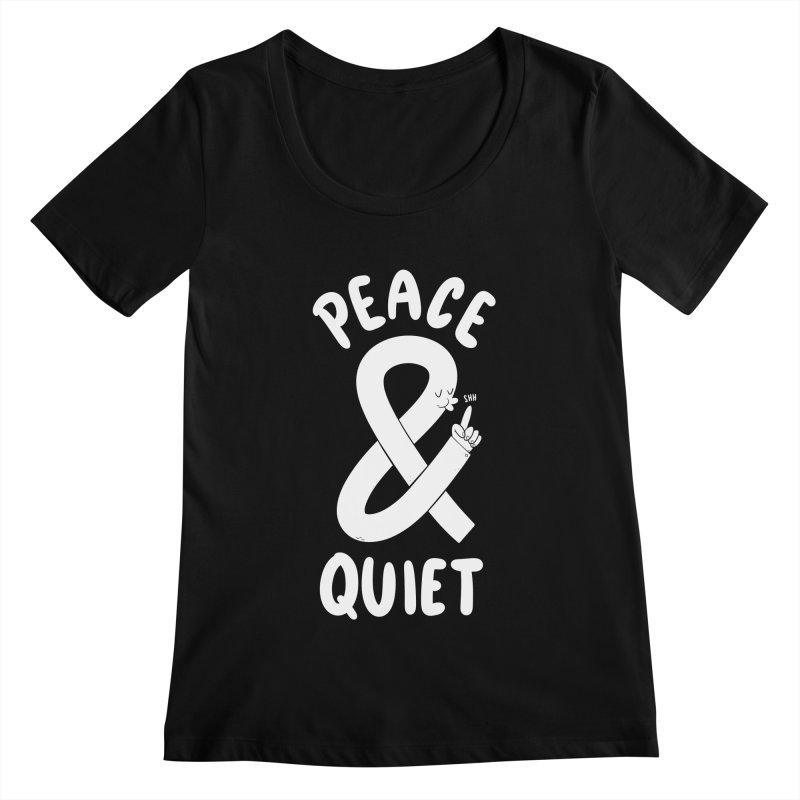 Peace & Quiet Women's Scoopneck by Morkki