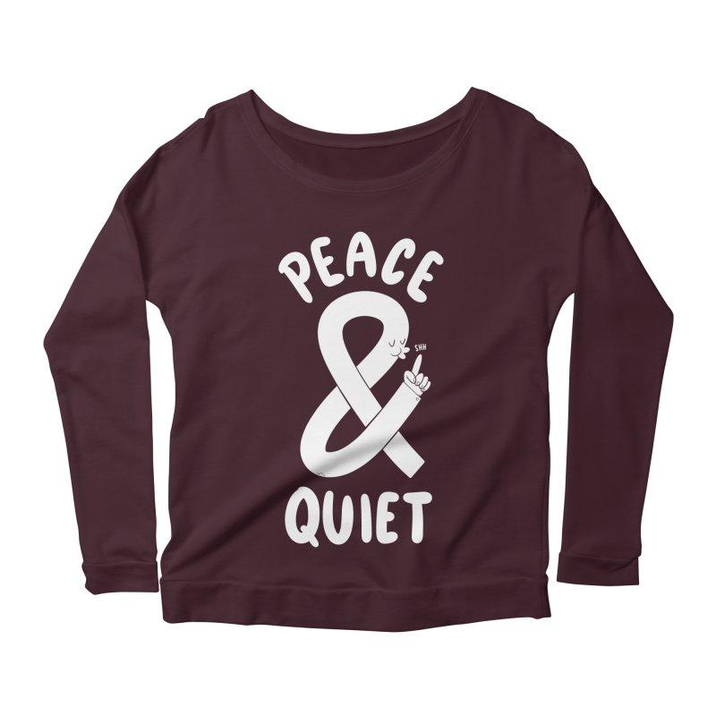 Peace & Quiet Women's Longsleeve Scoopneck  by Morkki