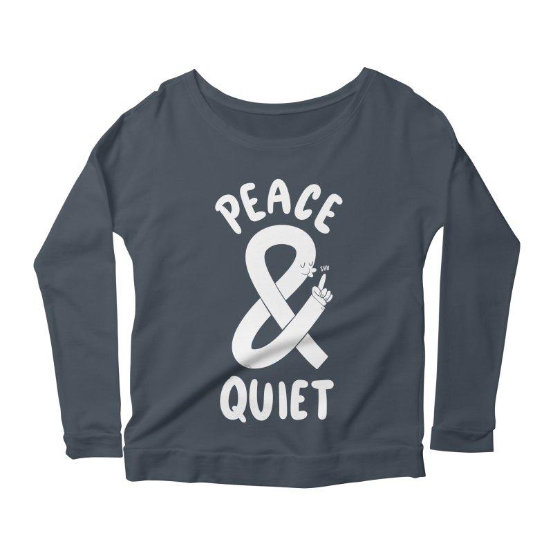 Peace & Quiet Women's Scoop Neck Longsleeve T-Shirt by Morkki