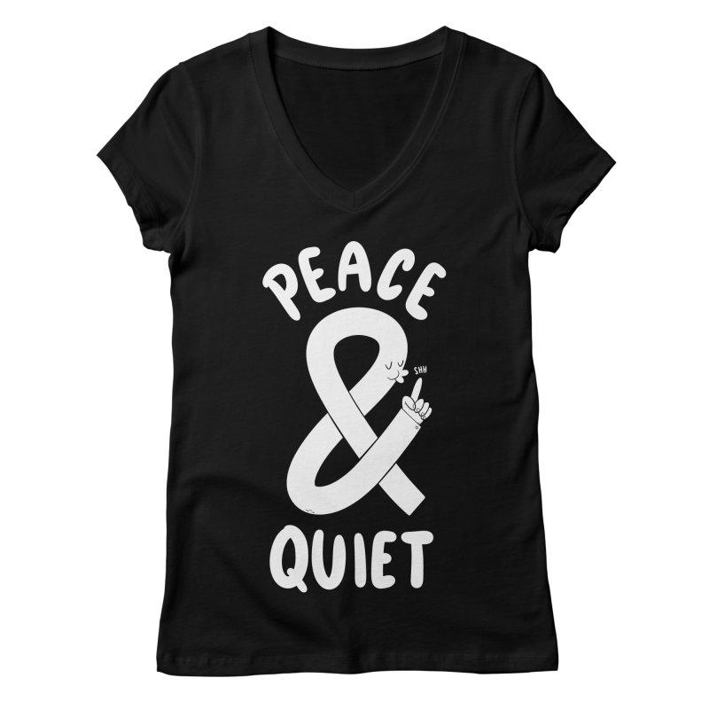 Peace & Quiet Women's V-Neck by Morkki
