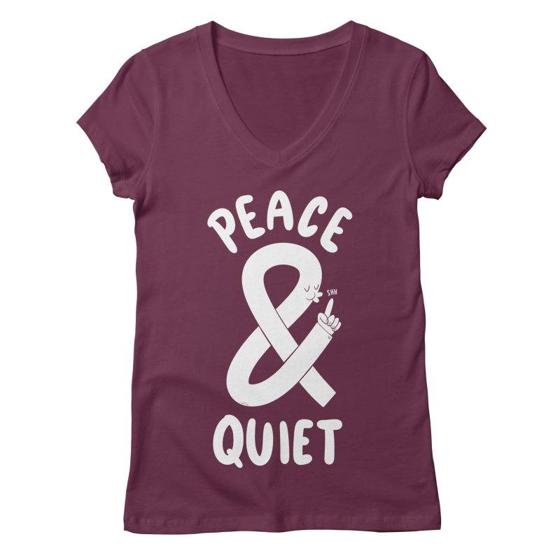 Peace & Quiet Women's V-Neck by Morkki