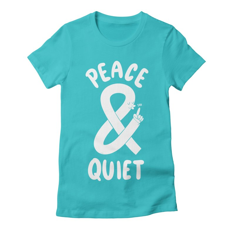Peace & Quiet Women's Fitted T-Shirt by Morkki