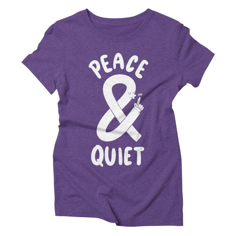 Peace & Quiet Women's Triblend T-shirt by Morkki