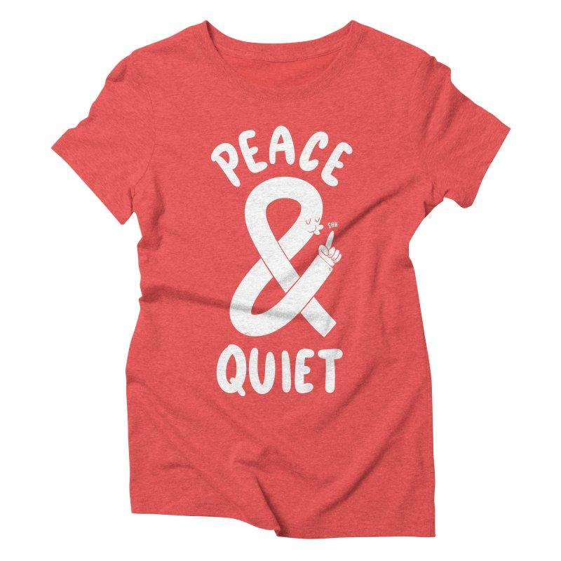 Peace & Quiet Women's Triblend T-Shirt by Morkki