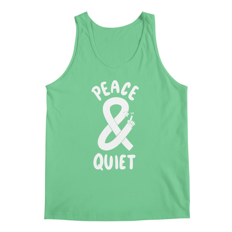 Peace & Quiet Men's Tank by Morkki