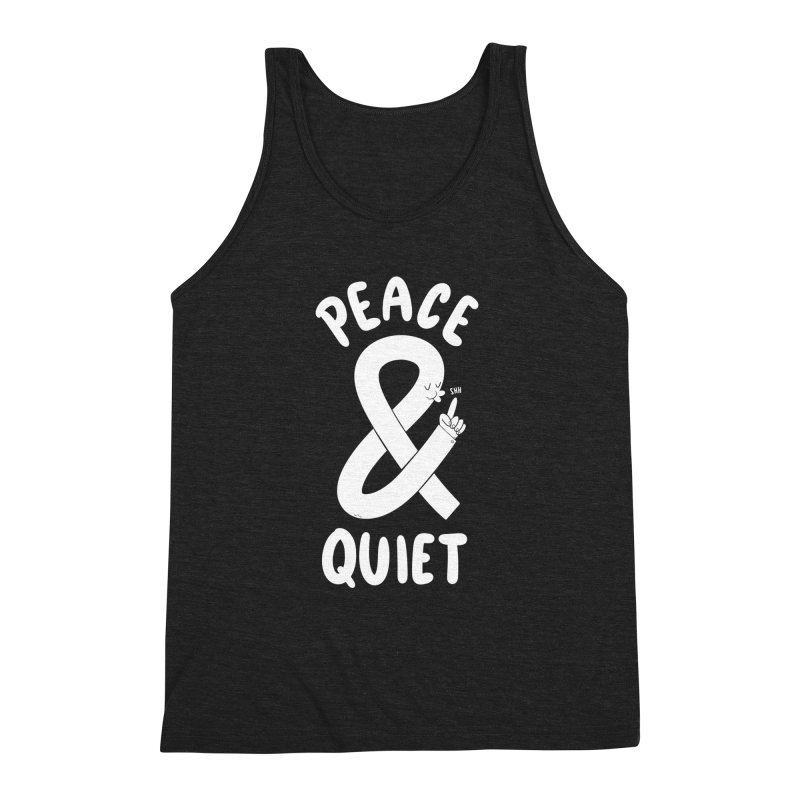 Peace & Quiet Men's Triblend Tank by Morkki