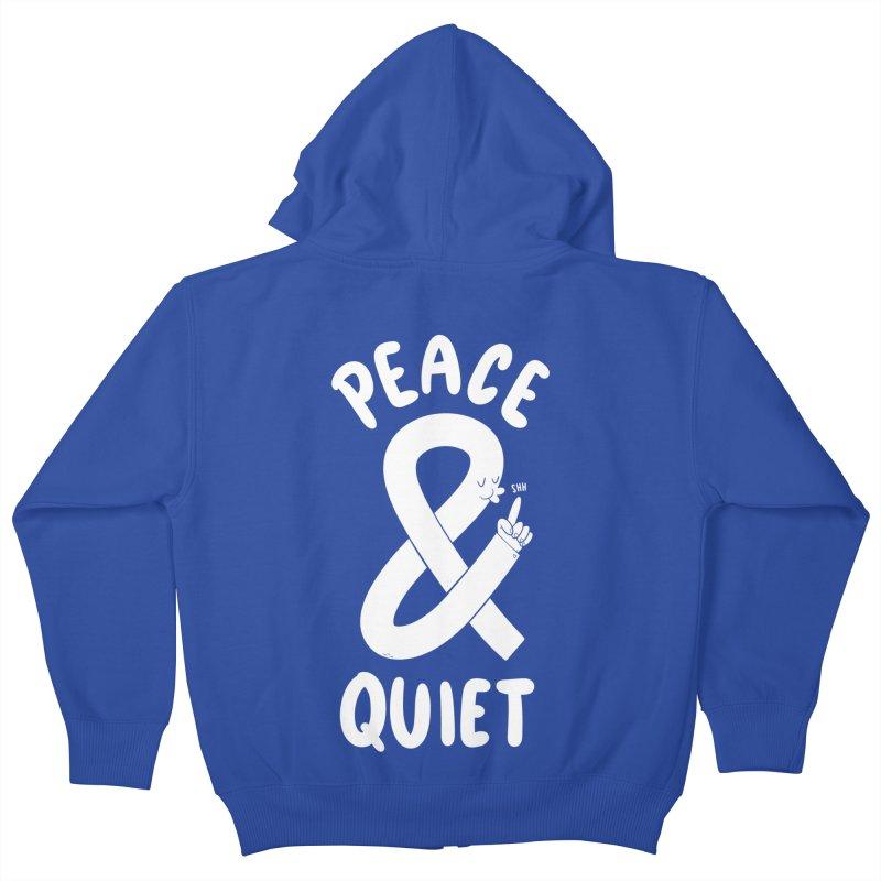 Peace & Quiet Kids Zip-Up Hoody by Morkki