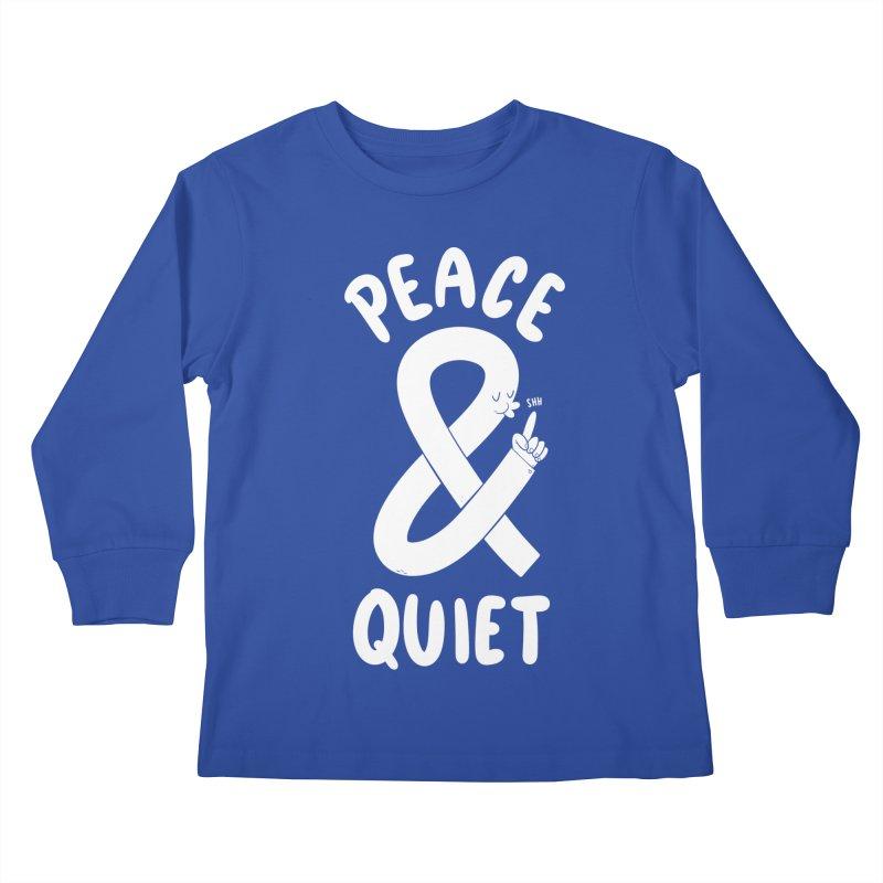 Peace & Quiet Kids Longsleeve T-Shirt by Morkki