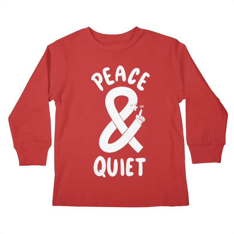 Peace & Quiet Kids Longsleeve T-Shirt by Morkki