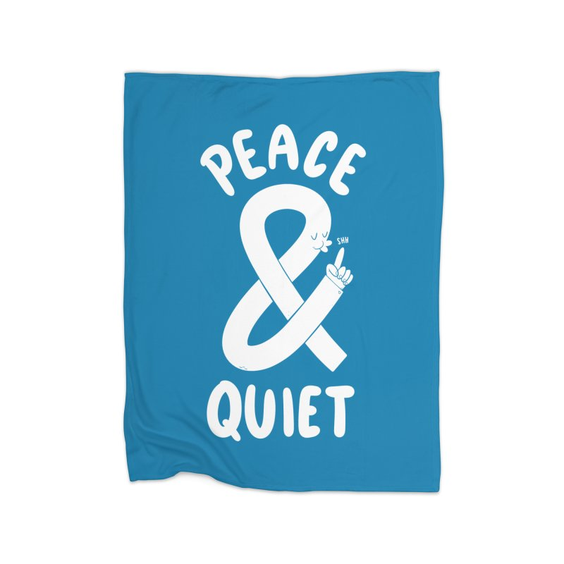 Peace & Quiet Home Blanket by Morkki