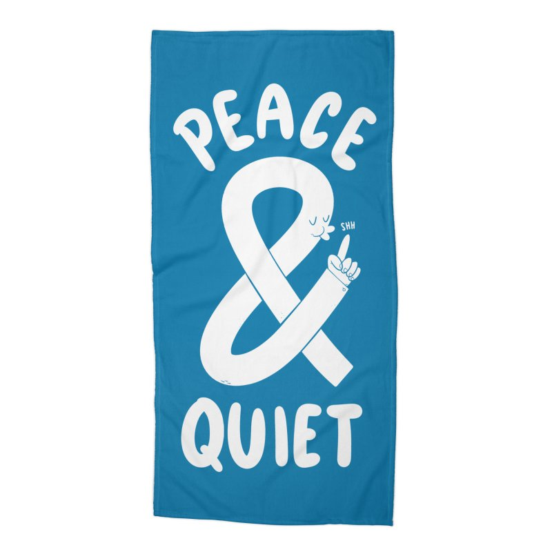 Peace & Quiet Accessories Beach Towel by Morkki