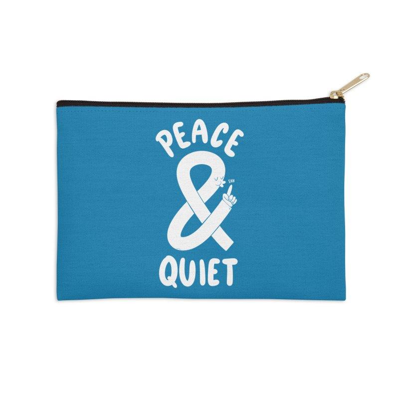 Peace & Quiet Accessories Zip Pouch by Morkki