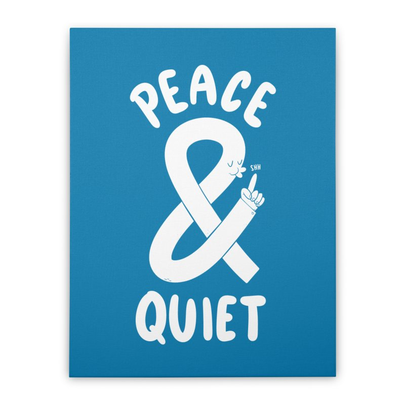Peace & Quiet Home Stretched Canvas by Morkki