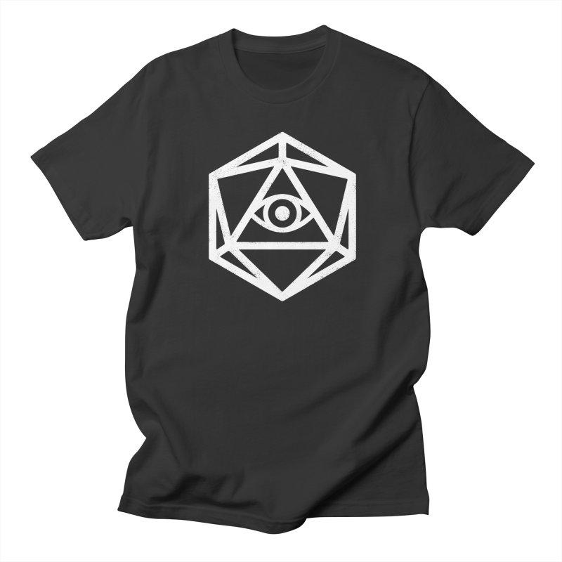 White Die of Providence Men's T-Shirt by Morkki