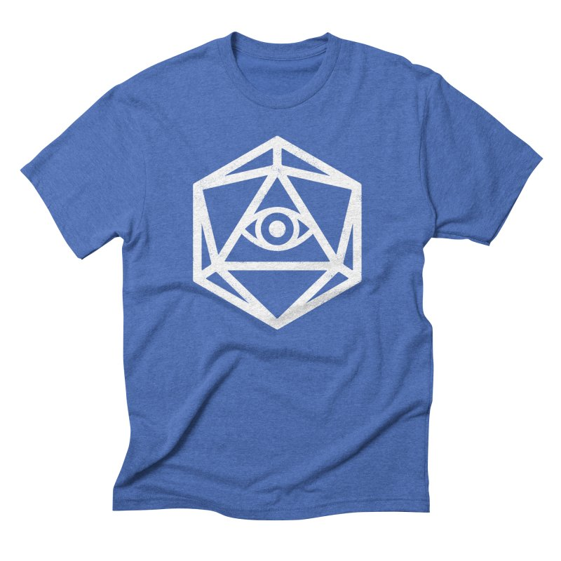 White Die of Providence Men's Triblend T-shirt by Morkki