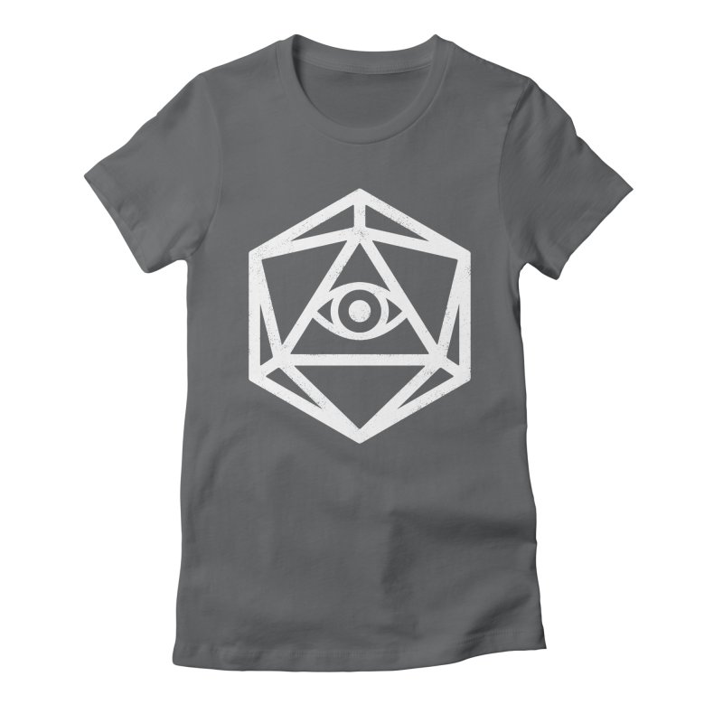 White Die of Providence Women's Fitted T-Shirt by Morkki