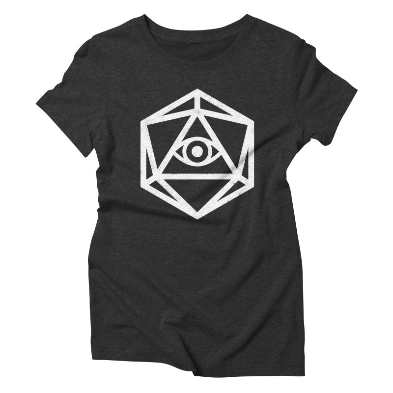 White Die of Providence Women's Triblend T-Shirt by Morkki