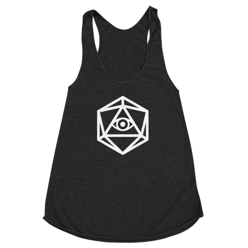 White Die of Providence Women's Racerback Triblend Tank by Morkki