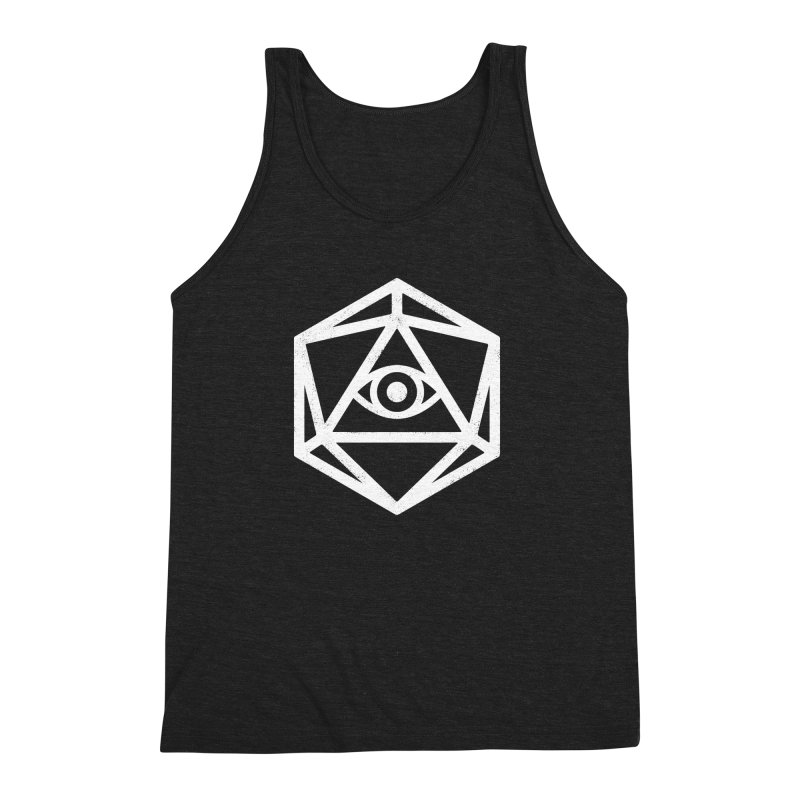 White Die of Providence Men's Triblend Tank by Morkki