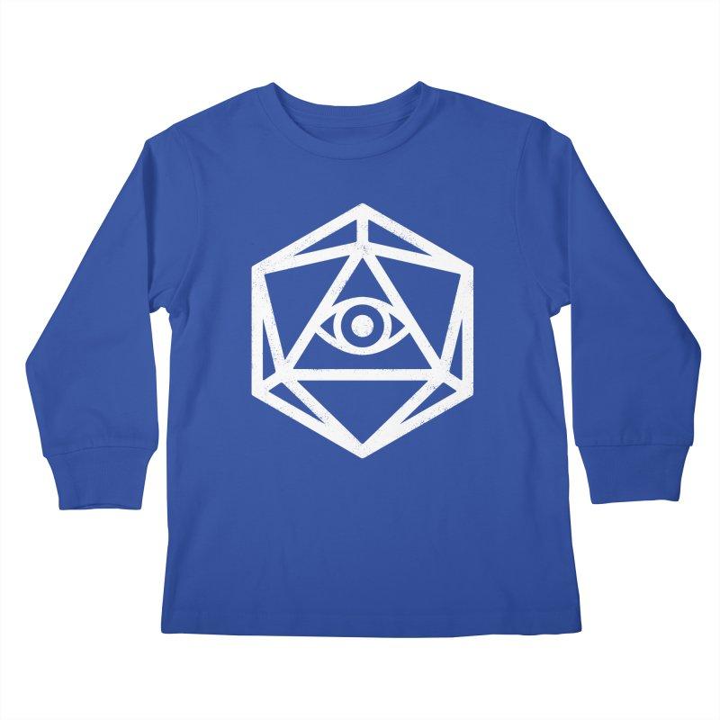 White Die of Providence Kids Longsleeve T-Shirt by Morkki