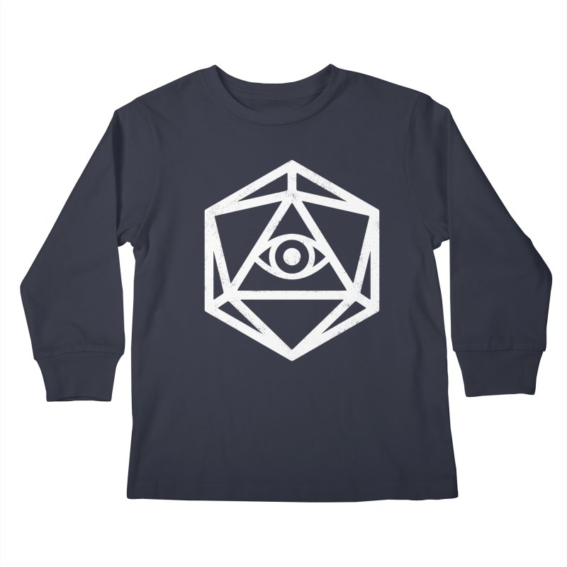 White Die of Providence Kids Longsleeve T-Shirt by Morkki