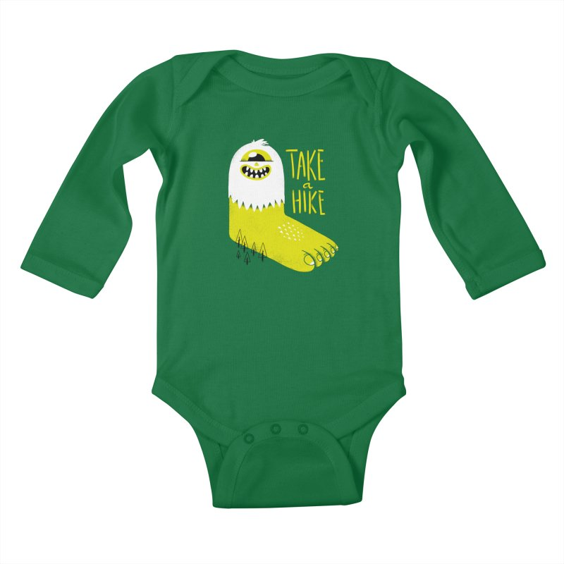 Advice Bigfoot Kids Baby Longsleeve Bodysuit by Morkki