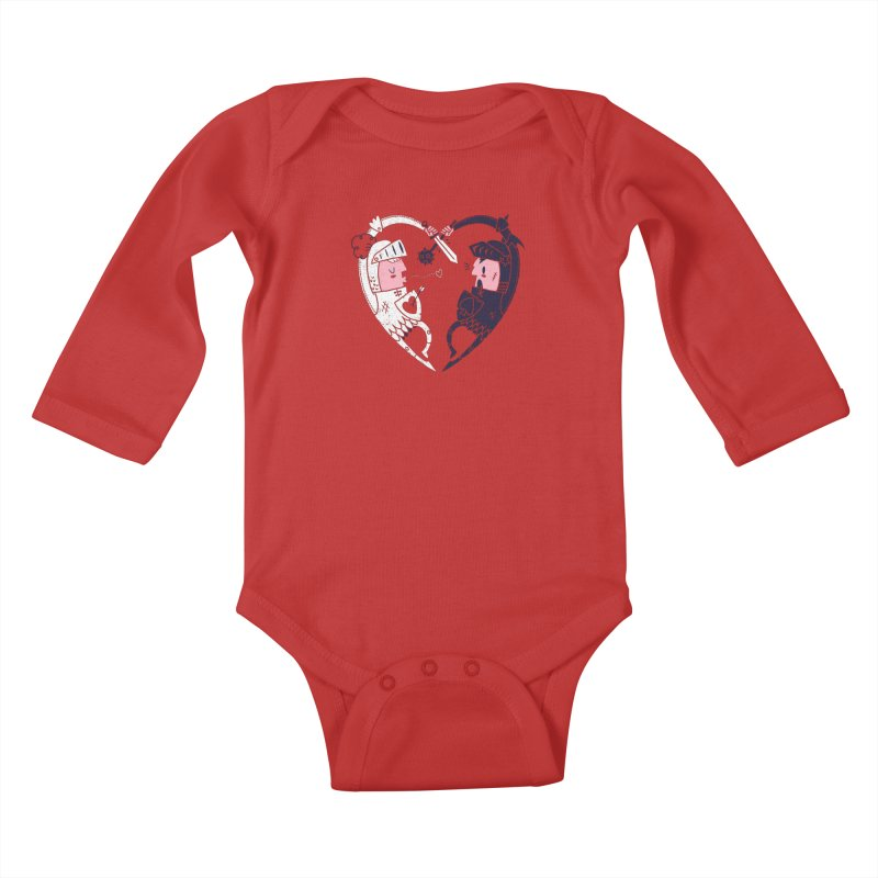 All is Fair in Love and War Kids Baby Longsleeve Bodysuit by Morkki