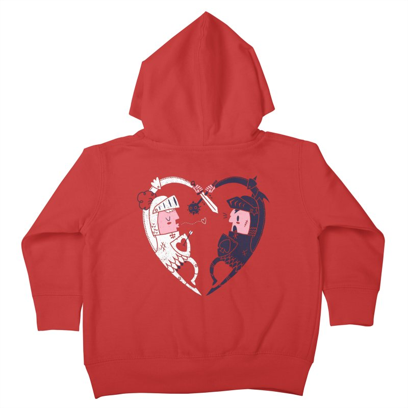 All is Fair in Love and War Kids Toddler Zip-Up Hoody by Morkki