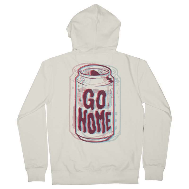 Go Home Men's Zip-Up Hoody by Morkki