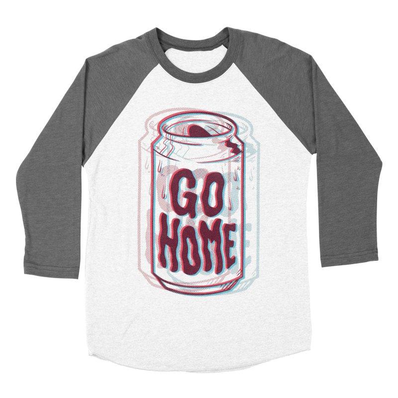 Go Home Men's Baseball Triblend Longsleeve T-Shirt by Morkki