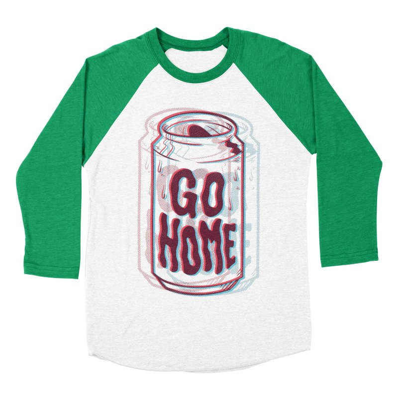 Go Home Men's Baseball Triblend Longsleeve T-Shirt by Morkki