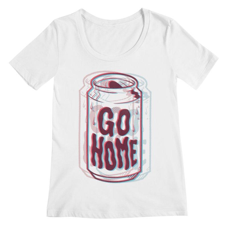 Go Home Women's Scoopneck by Morkki