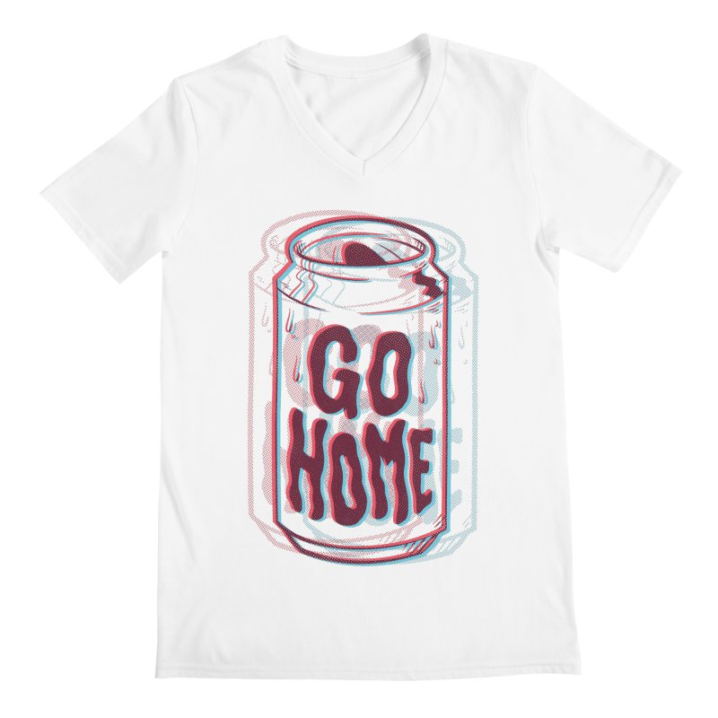 Go Home Men's Regular V-Neck by Morkki