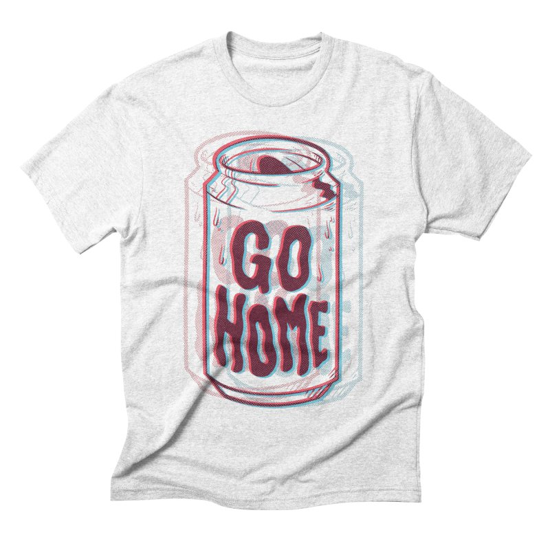 Go Home Men's Triblend T-shirt by Morkki