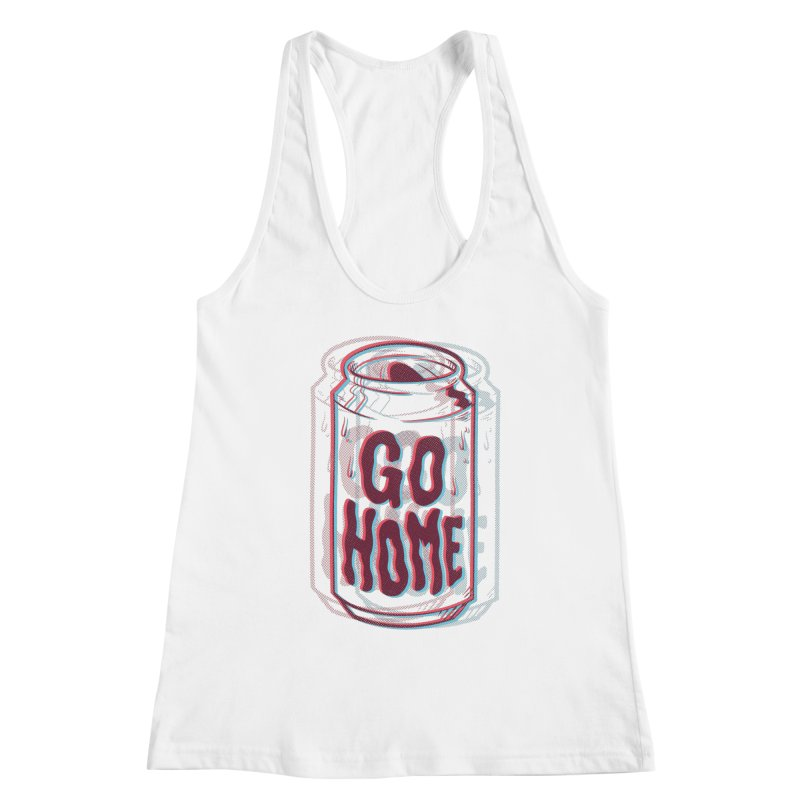 Go Home Women's Racerback Tank by Morkki