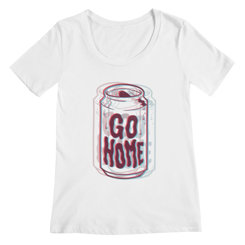 Go Home Women's Scoopneck by Morkki