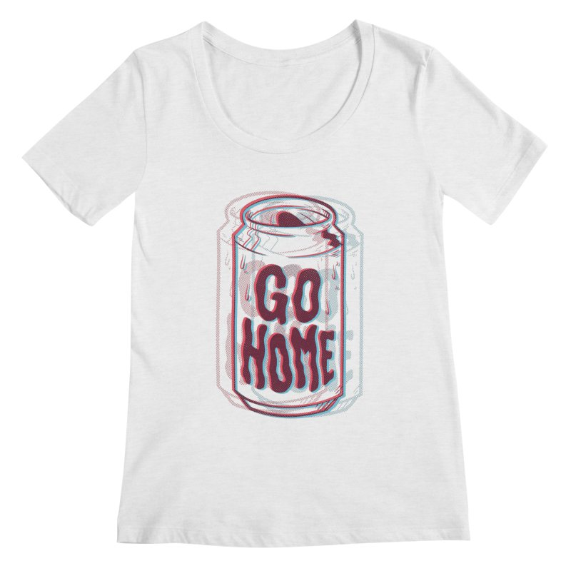 Go Home Women's Regular Scoop Neck by Morkki
