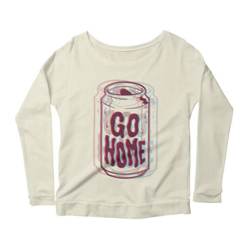 Go Home Women's Scoop Neck Longsleeve T-Shirt by Morkki