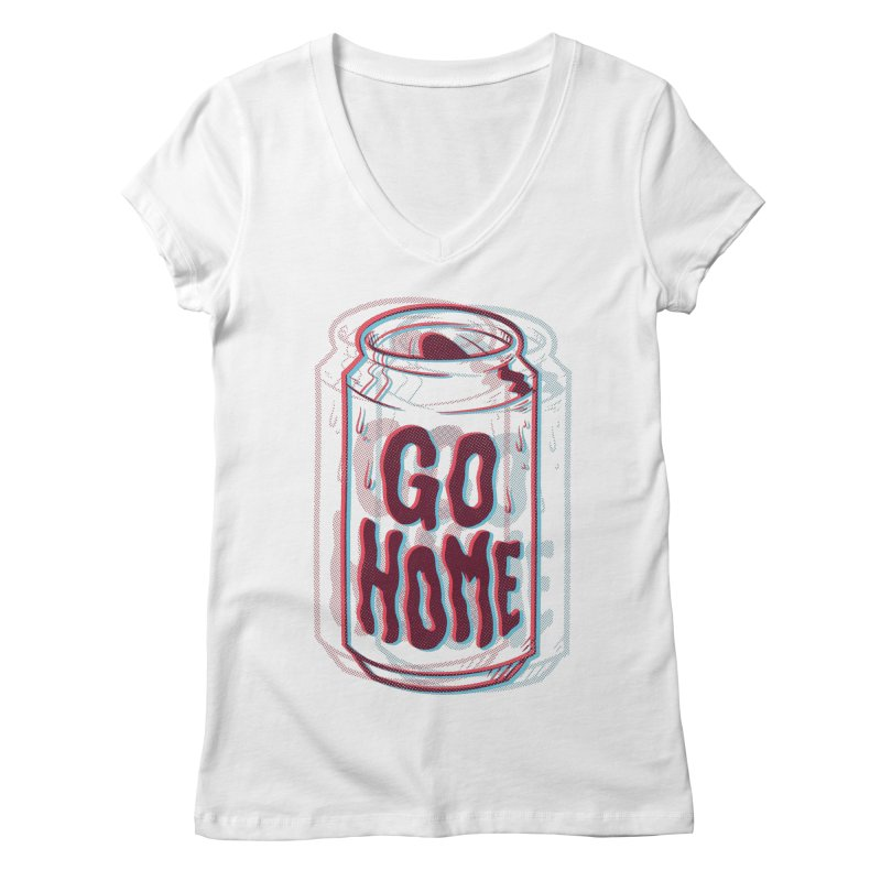 Go Home Women's V-Neck by Morkki