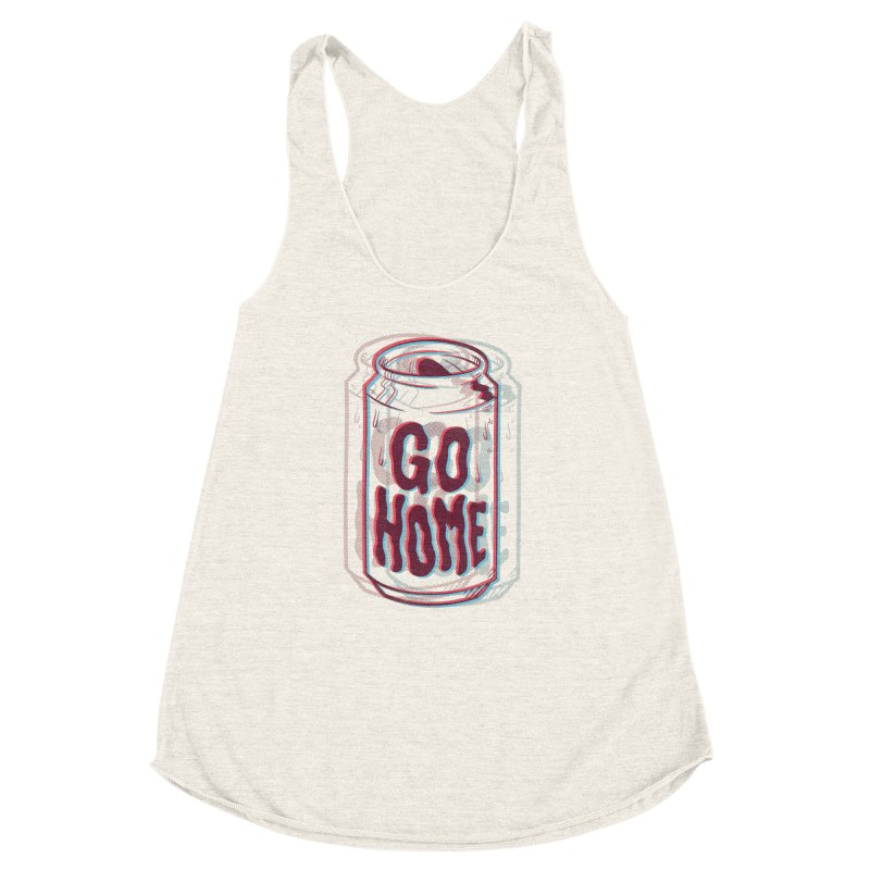Go Home Women's Racerback Triblend Tank by Morkki