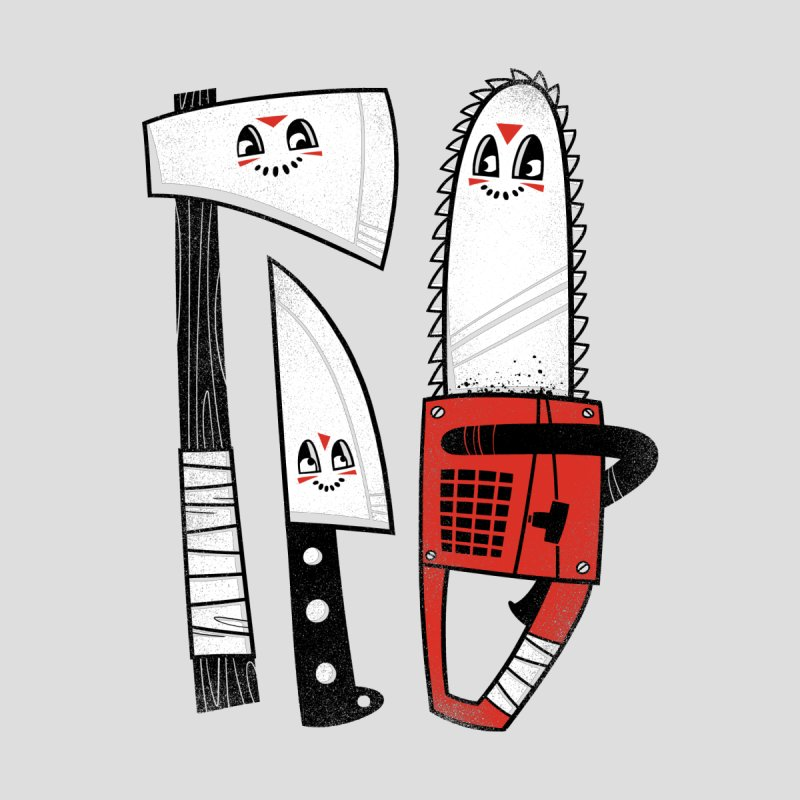 Happy Slasher Pals Kids Longsleeve T-Shirt by Morkki